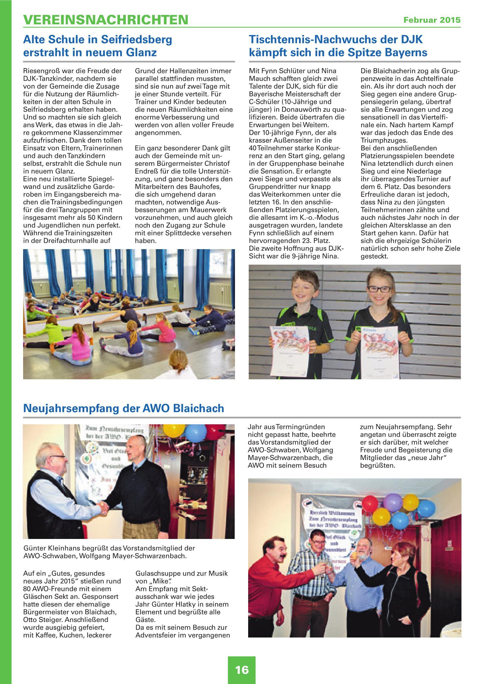 Mitteilungsblatt Februar 2015